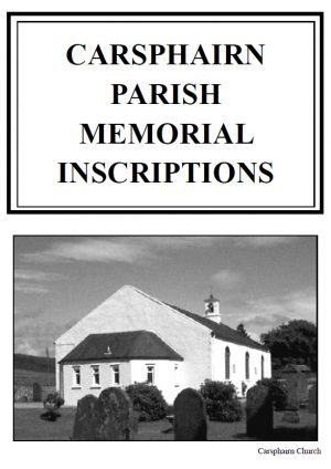 Carsphairn Churchyard MI 2013