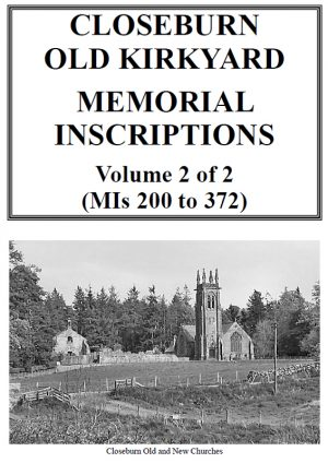 Closeburn Churchyard Memorial Inscriptions 2019 Vol 2