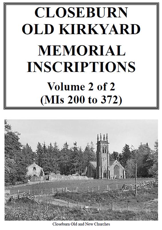 Closeburn Churchyard Memorial Inscriptions 2019 Vol 2