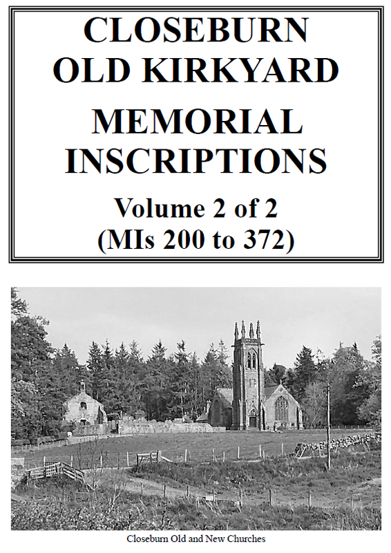 Closeburn Old Church Memorial Inscriptions 2019 Vol 2
