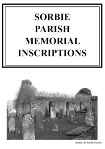 Sorbie Parish Graveyards MI 2011