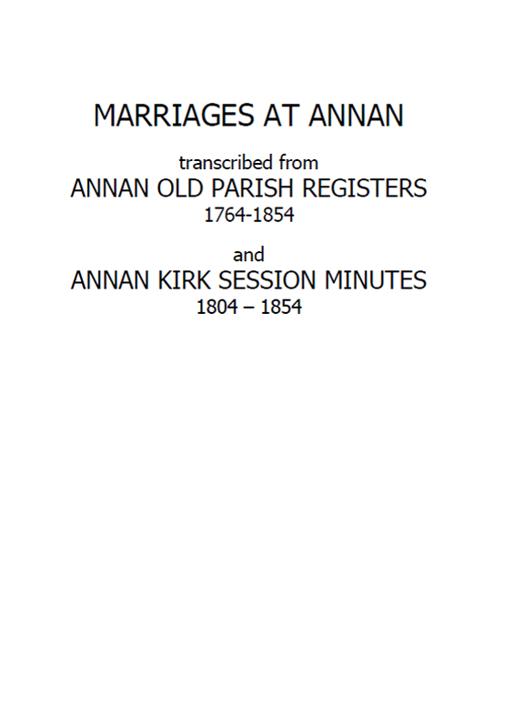 Annan OPR Marriages 2011