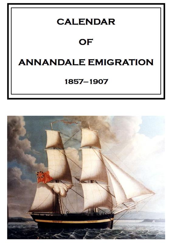 Annandale Emigration 1857-1907 2007