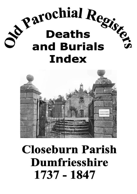 Closeburn OPR Deaths and Burials 2007