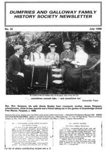 DGFHS Newsletter Vol. 032 199807