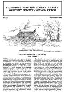 DGFHS Newsletter Vol. 033 199811