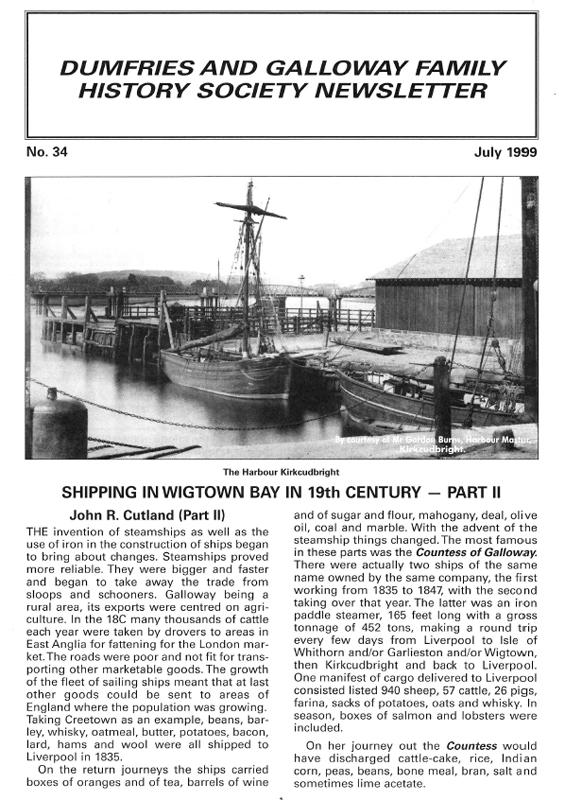 DGFHS Newsletter Vol. 035 199907