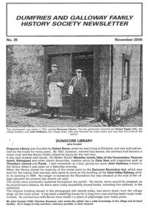 DGFHS Newsletter Vol. 039 200011