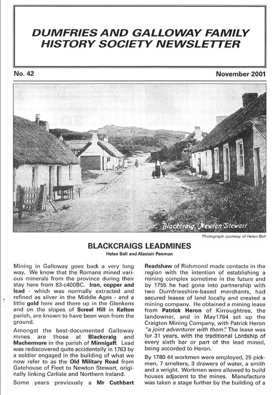 DGFHS Newsletter Vol. 042 200111