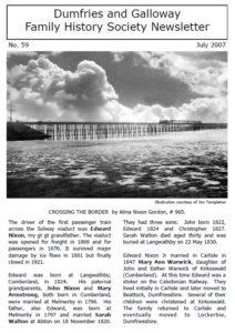 DGFHS Newsletter Vol. 059 200707