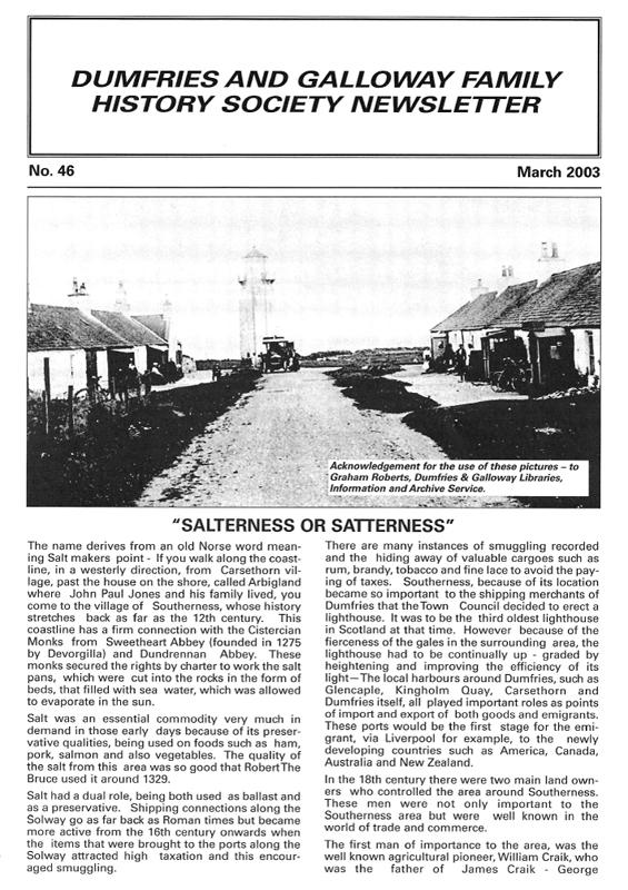 DGFHS Newsletter Vol. 046 200303