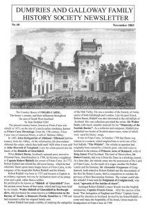 DGFHS Newsletter Vol. 048 200311