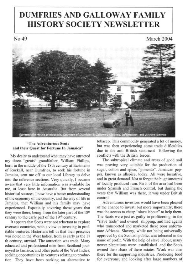 DGFHS Newsletter Vol. 049 200403