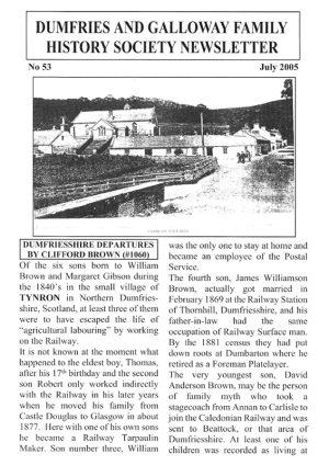 DGFHS Newsletter Vol. 053 200507