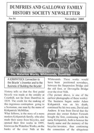 DGFHS Newsletter Vol. 054 200511
