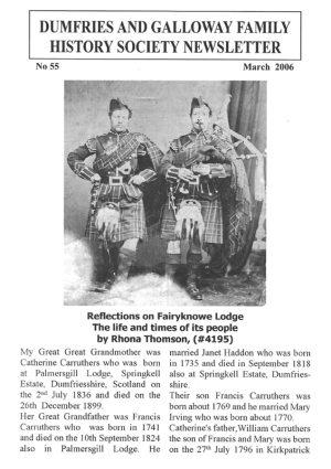 DGFHS Newsletter Vol. 055 200603