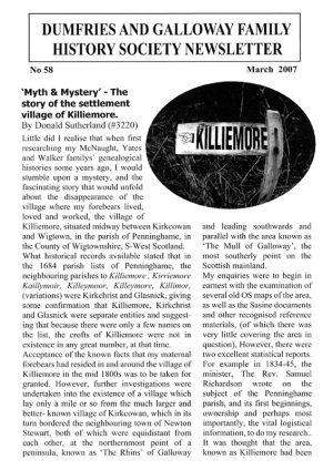 DGFHS Newsletter Vol. 058 200703