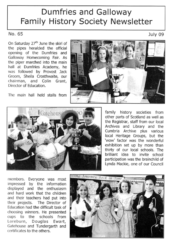 DGFHS Newsletter Vol. 065 200907