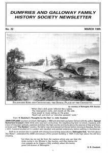 DGFHS Newsletter Vol. 022 199503