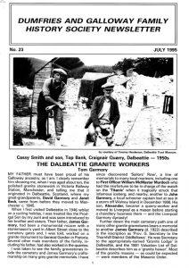 DGFHS Newsletter Vol. 023 199507