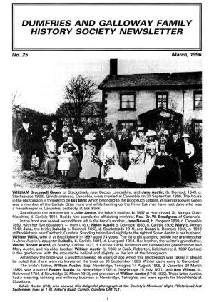 DGFHS Newsletter Vol. 025 199603