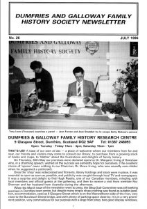DGFHS Newsletter Vol. 026 199607