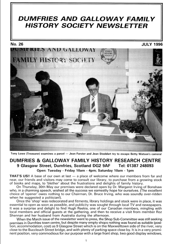 DGFHS Newsletter Vol. 026 199607