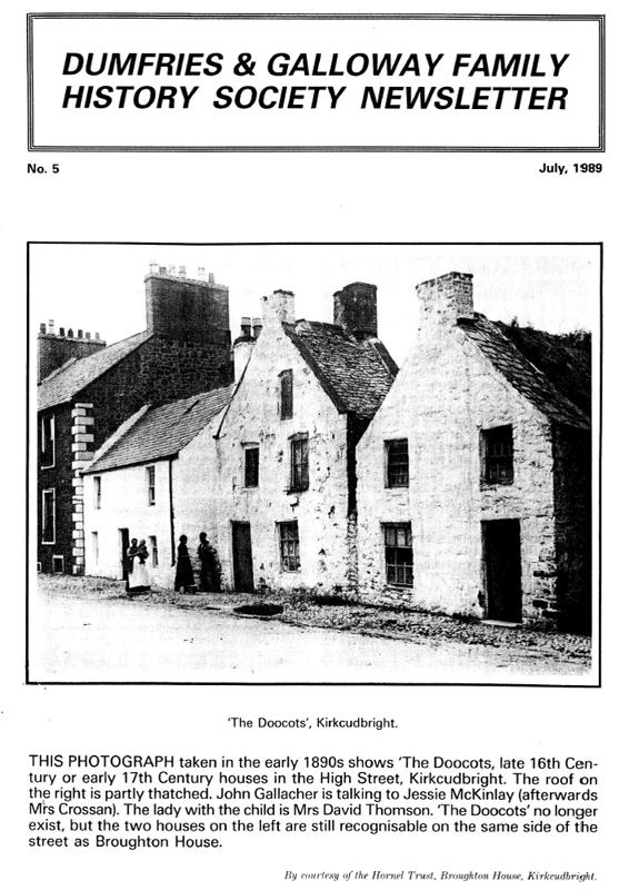 DGFHS Newsletter Vol. 005 198907