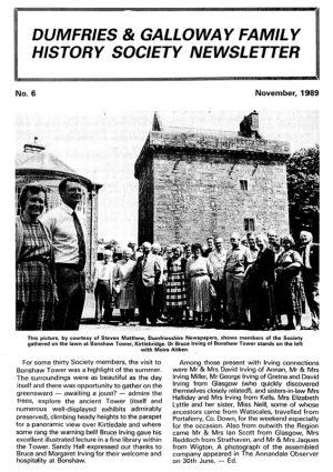 DGFHS Newsletter Vol. 006 198911