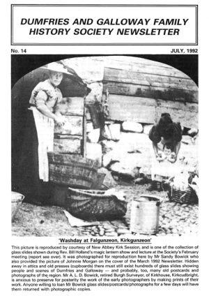 DGFHS Newsletter Vol. 014 199207