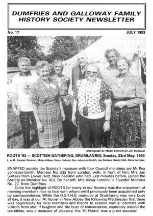 DGFHS Newsletter Vol. 017 199307