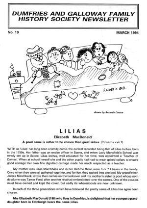 DGFHS Newsletter Vol. 019 199403