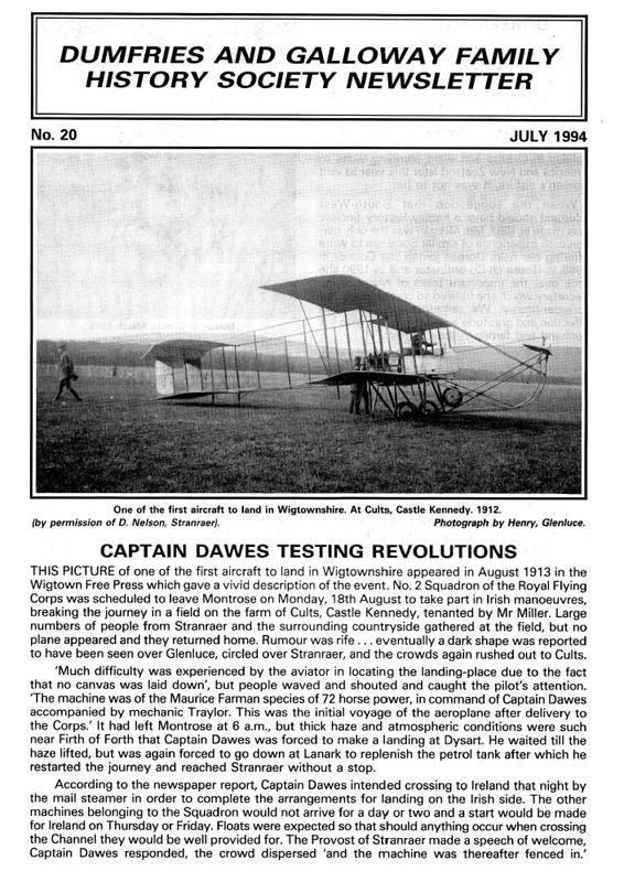 DGFHS Newsletter Vol. 020 199407