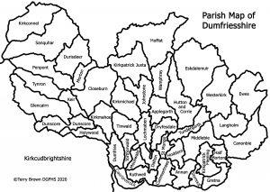 Parish Map of Dumfriesshire