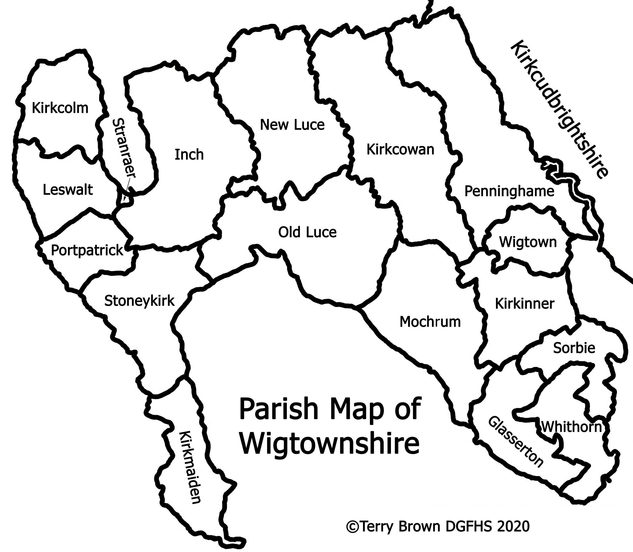 Parish Map of Wigtownshire