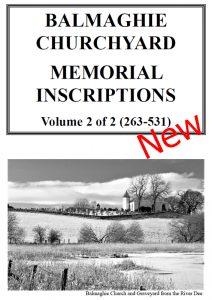 Balmaghie Churchyard MIs 2021 Vol 2 New